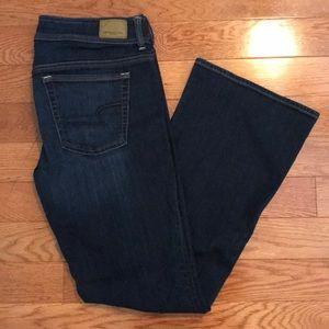AE super stretch kick boot jeans